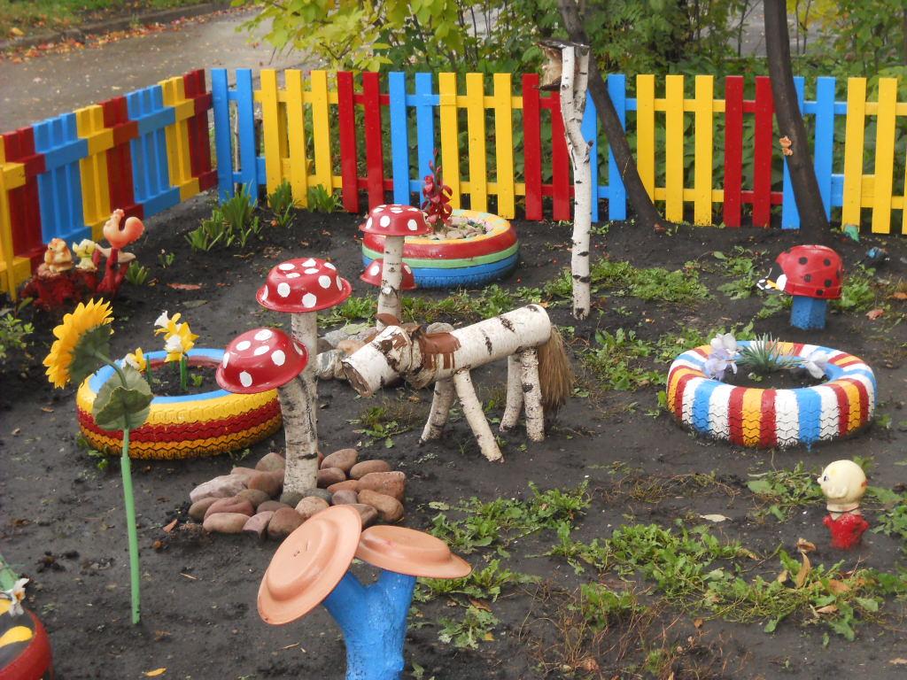 Украсить дворик